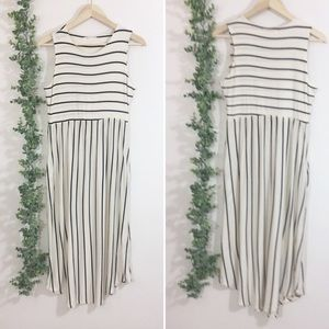 Reb & J striped sleeveless maxi dress